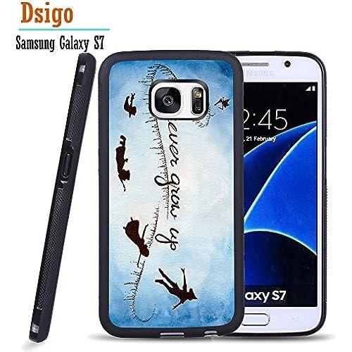 Galaxy S7 Case, Samsung S7 Black Case, Dsigo TPU Black Full Cover Protective Case for New Samsung Galaxy S7 - Elf never giow up Sales