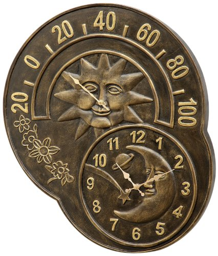 SPI Home 33761 Sun and Moon Clock and Thermometer by SPI Home