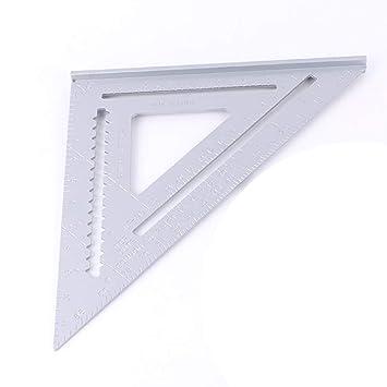 Regla Triangular, Sistema Cuadrado inglés, aleación de Aluminio, tecnología portátil, triángulo, tecnología portátil Carpintero Escala de Trabajo: ...