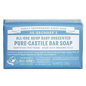 Dr. Bronner's Organic Pure Castile Bar Soap, - Baby-mild - 5 oz - 2 pk