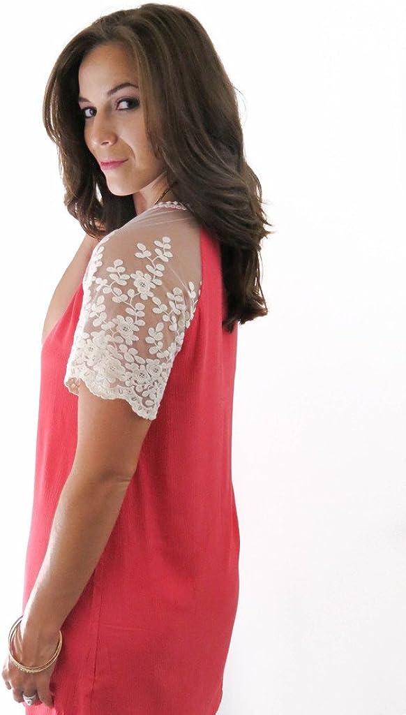 Umgee USA Womens Lace Sleeved Dress