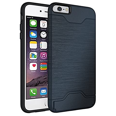 iPhone 6 Plus Case,KATUMO Dual layer Rugged Shock-Absorption Cover for iPhone 6 Plus iPhone 6s Plus (Iphone6 Plus Case Card Holder)