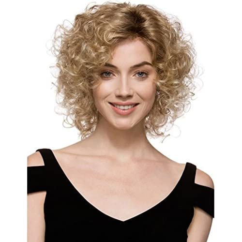 Diy Wig Short Kinky Afro Blonde Wigs Curly Synthetic Ombre Cosplay