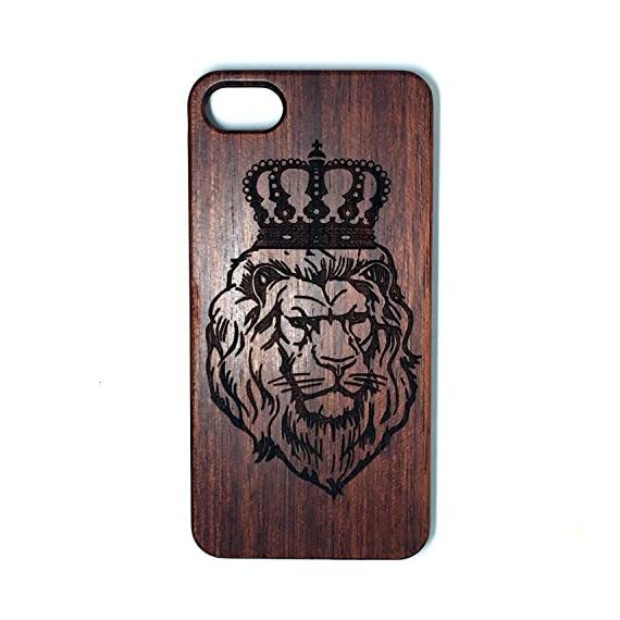 iPhone 7/iPhone 8 Case, Slim Wood Protective Cover Case for iPhone 7,Handmade Wood & Slim Durable Polycarbonate Bumper,Nature Seris(Eye of Providence) (Rosewood Lion Crown) 1 √ Compatible with iPhone 7 (Not for iPhone7 Plus) √ Naturally wood different,each wood back has a unique grain and texture. √ Specially designed for iPhone 7, has precise design for speakers, charging ports, audio ports and buttons.