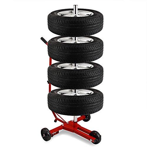 Support pneus - 4 roues complètes max 225 mm - Stockage Garage sous-sol 30%OFF