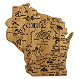 Totally Bamboo Wisconsin State Destination Bamboo Serving and Cutting Board