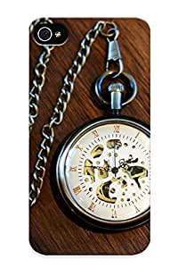 Freshmilk High-quality Durability Case For Iphone 4/4s(pocket Watch Time Clock Bokeh )