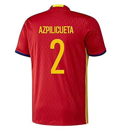 病気だと思う花火人工adidas Azpilicueta #2 Spain Home Jersey UEFA EURO 2016 (Authentic name & number) /サッカーユニフォーム スペイン ホーム用 アスピリクエタ