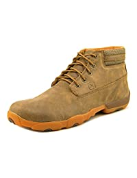 Twisted X Casual Shoes Mens Lace Up Mocs Rubber Bomber Tan MDM0034