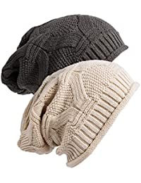 5ee67805345 Slouchy Beanie Cap Knit Soft Cozy Oversized Long Hats for Women and Men