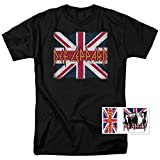 Def Leppard Logo Union Jack 80s Rock T Shirt (Large)