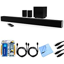 Vizio SB3851-D0 SmartCast 38' 5.1 Sound Bar System w/ Essential Accessory Bundle includes Sound Bar, 2 x 6' Optical Toslink OD Audio Cables, 2 x 6' HDMI Cables, Cleaning Kit and Microfiber Cloth