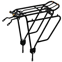 Ibera PakRak Bicycle Touring Carrier Plus+ Carrier Rack IB-RA4 (for Non-Disc Brake Mounts) Frame-Mounted for Heavier Top & Side Loads Bike Cargo Racks