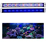 KZKR Upgraded Aquarium Light LED Full Spectrum 48'-60' Hood Lamp for Freshwater Marine Plant Multi-Color Decorations Light 120cm - 150cm