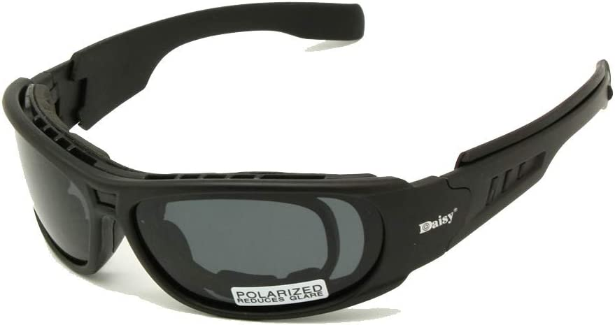 EnzoDate Polarized Daisy C6 Ballistic Army Sunglasses Rx Insert Military Goggles Combat War Game Tactical Glasses