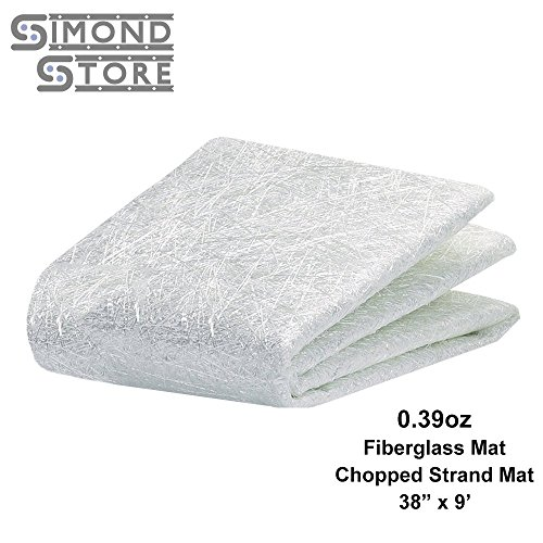 Fiberglass Chopped Strand Mat 0.39 oz 38'' x 9 Ft.(3 Yard) Long by Simond