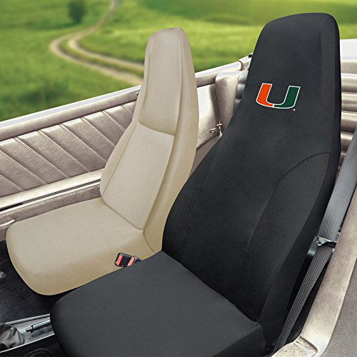 FANMATS NCAA University of Miami Hurricanes Polyester Seat Cover (Miami Hurricanes Covers)