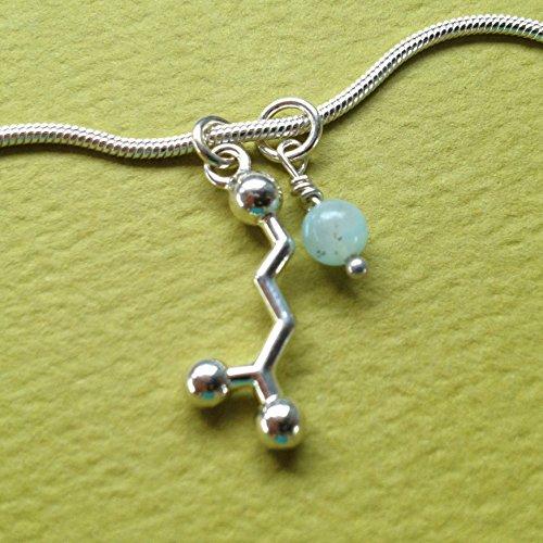 (GABA Yoga Molecule Necklace in sterling silver)