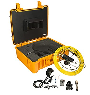 Steel Dragon Tools Waterproof Pipe Inspection Camera with DVR and 130 FT Cable