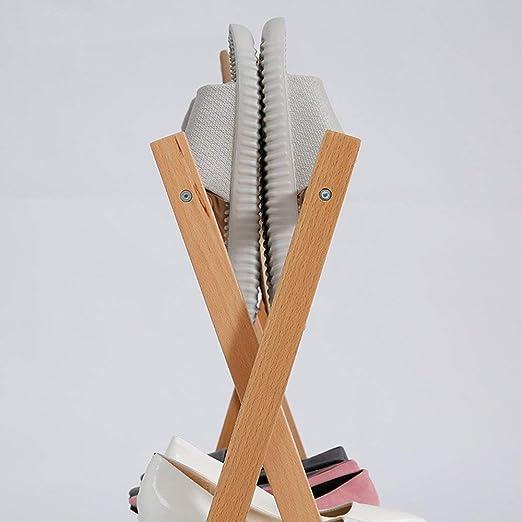 Amazon.com: LUHEN Solid Wood Shoe Racks Multi-Layer Easy ...