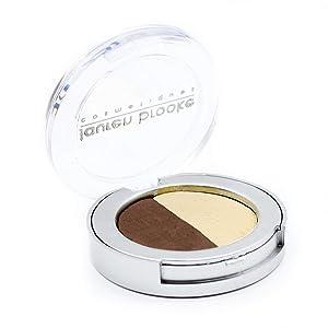 Lauren Brooke Cosmetiques Pressed Eyeshadow Duo, Natural, Organic Makeup (Chestnut/Vanilla Creme)