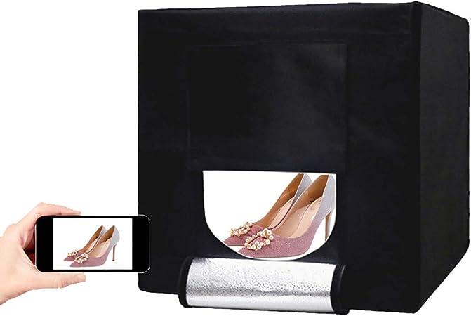 MFYXUE Caja de Estudio fotográfico portátil, Juego de Carpas Plegables, Carpa fotográfica, para joyería, Comida, Zapatos, fotografía, etc, tamaño: 60 * 60 * 60 cm: Amazon.es: Hogar