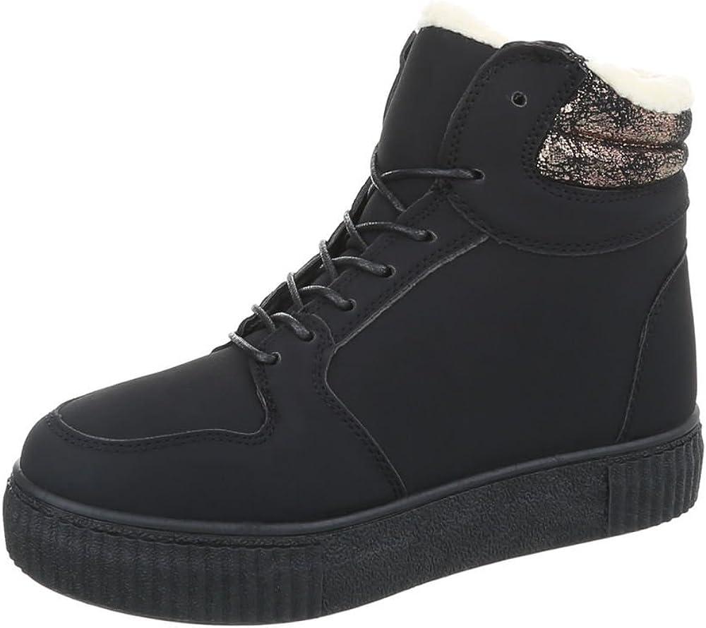 TALLA 38 EU. Zapatos para mujer Botas Plano Classic Botines Ital-Design