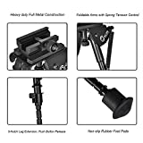 CVLIFE 6-9 Inches Tactical Bipod Adjustable Spring