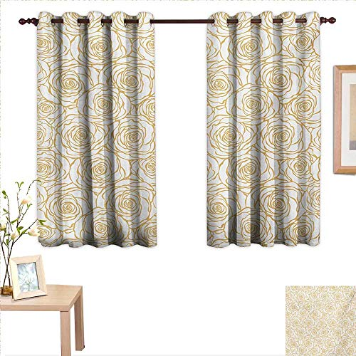 China Garden Rose Block (BlountDecor Contemporary Customized Curtains Art Deco Style Floral Pattern with Roses Romantic Abstract Bouquet Garden 63