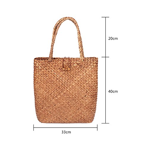 Handbag Bag Bag Shopping For Tote Woven Women Basket Large Flower Hand Travel Rattan cw8xaqcRvC