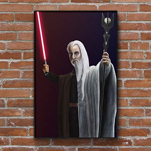 Christopher Lee Art Print Saruman Lord of the Rings Count Dooku Star Wars Painting Wall Art Framed Print Poster 4