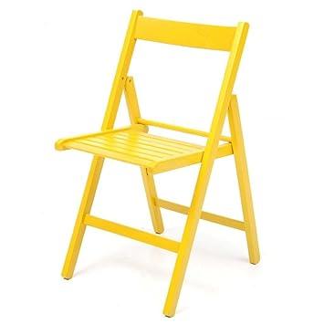 La Vetrina dei Desideri 4 sillas Plegables Amarilla: Amazon ...
