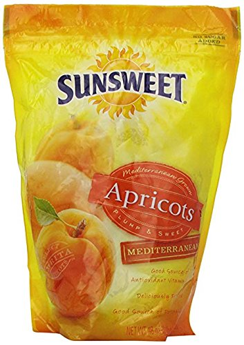 Sunsweet Apricot, Premium Mediterranean, 2 Pack (48 Oz Each) Quality You Can Taste