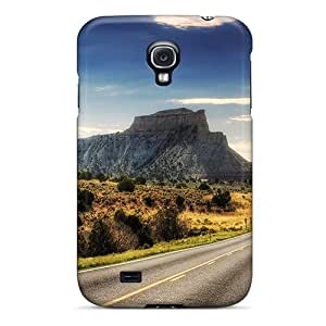 High Quality Shock Absorbing Case For Galaxy S4-highway Into The Desert Hdr