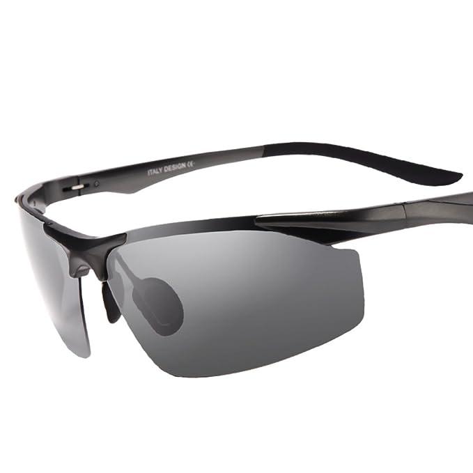 Gafas de sol polarizadas de los hombres/Día y noche tonos/Campaña condujo las gafas de sol/Especiales conducir mirrors/gafas polarizadas/Visión nocturna-C: ...