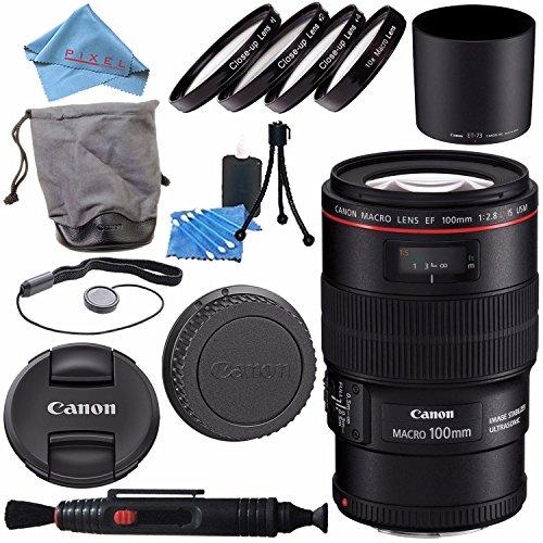 Canon EF 100mm f/2.8L Macro IS USM Lens 3554B002 + 67mm Macr