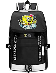 YOURNELO Cartoon SpongeBob SquarePants Rucksack School Backpack Bookbag