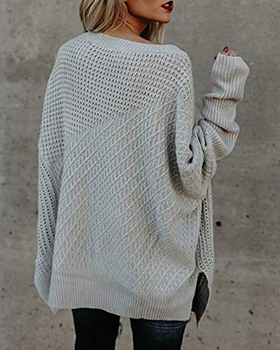 f31e4d534c4 GOLDSTITCH Women s Sweaters Oversized Batwing Pullover Loose Off The  Shoulder Knit Jumper
