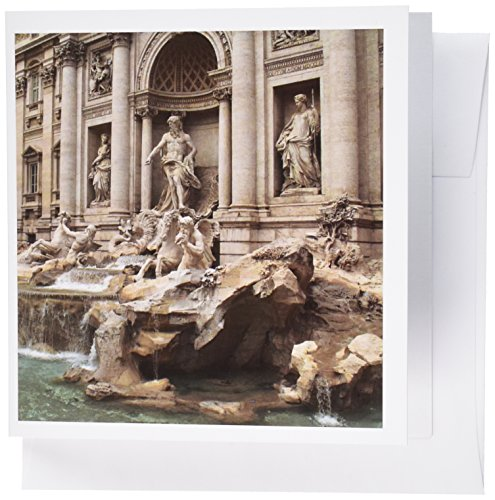 3dRose Trevi Fountain in Rome, Italy- Places to Travel - Greeting Cards, 6 x 6 inches, set of 12 (gc_47792_2)