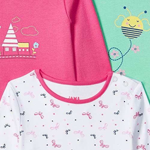 Amazon Brand – Jam & Honey Baby Girl's Starred Regular fit T-Shirt (Pack of 3)