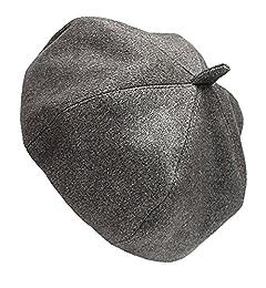 Bodhi2000 Women Girls French Style Vintage Wool Warm Plain Beret Beanie Hat