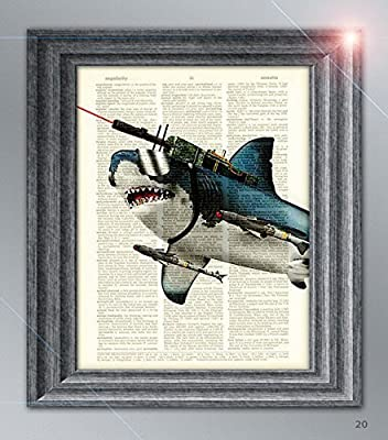 "Great White ""with frickin laser beams on its head"" dictionary page print"