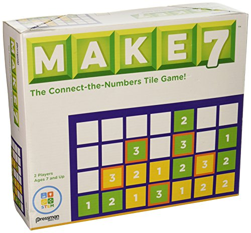 Pressman Toy Make 7 the Think-ahead Number Tile Game