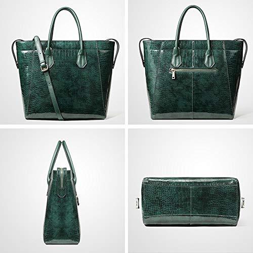 Borsa High Femminile Capienza In Nuova Moda end Pelle Di Green Grande Donna AjLq543R