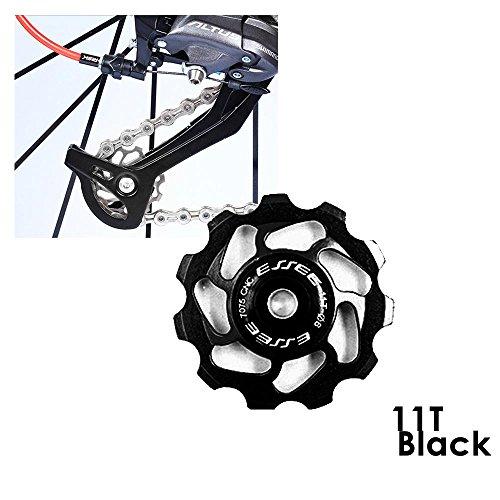 AOLVO bicicleta de montaña cambio trasero polea Durable aluminio sellado rodamientos de bicicleta de cerámica para...