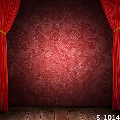 Amazon Yame 5x7ft Vinyl Digital Red Wallpaper Curtain Stage