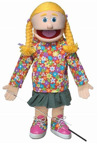 25'' Cindy, Peach Girl, Full Body, Ventriloquist Style Puppet