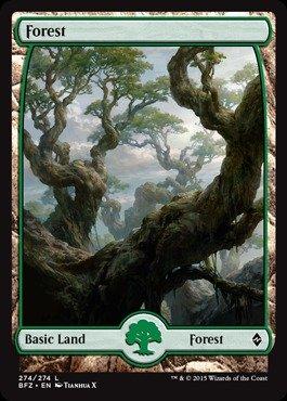 Magic: the Gathering - Forest (274) (274/274) - Battle for Zendikar - (Mtg Zendikar Foil)