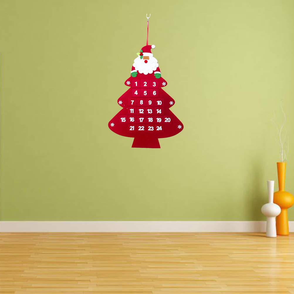 Amazon.com: BESTOYARD Christmas Advent Calendar Hanging Christmas ...