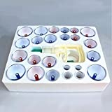 Amazing Kiss® Cupping Therapy Chinese Biomagnetic 24 Cup Set Kangzhu Health Acupuncture Health